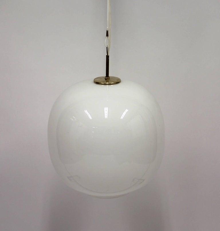 Scandinavian Modern Large Danish Opaline Radiohus Pendant by Vilhelm Lauritzen for Louis Poulsen For Sale