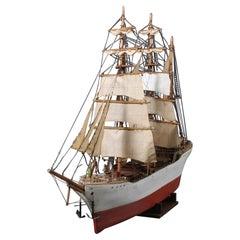 Large Danish Scratch-Built Folk Art Model Ship