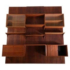 Large Danish Teak Wall Bookcase by Poul Cadovius 3 Sides Scandinavian, F139