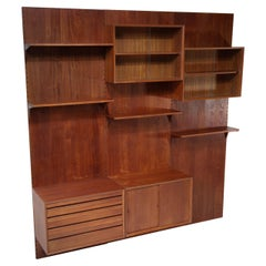 Large Danish Teak Wall Bookcase by Poul Cadovius, F139