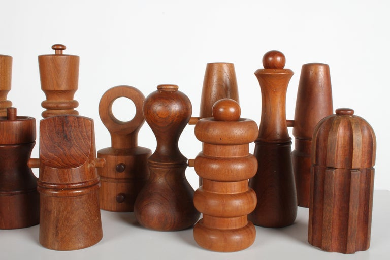 Large Dansk Collection of Pepper Mills and Salt Shakers, IHQ For Sale 5