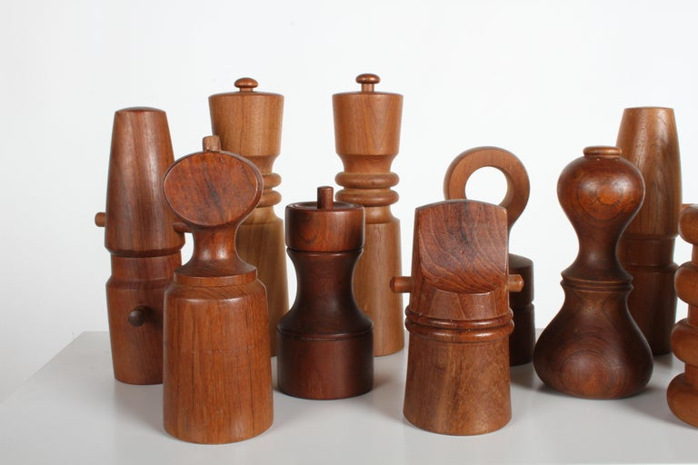 Mid-20th Century Large Dansk Collection of Pepper Mills and Salt Shakers, IHQ For Sale
