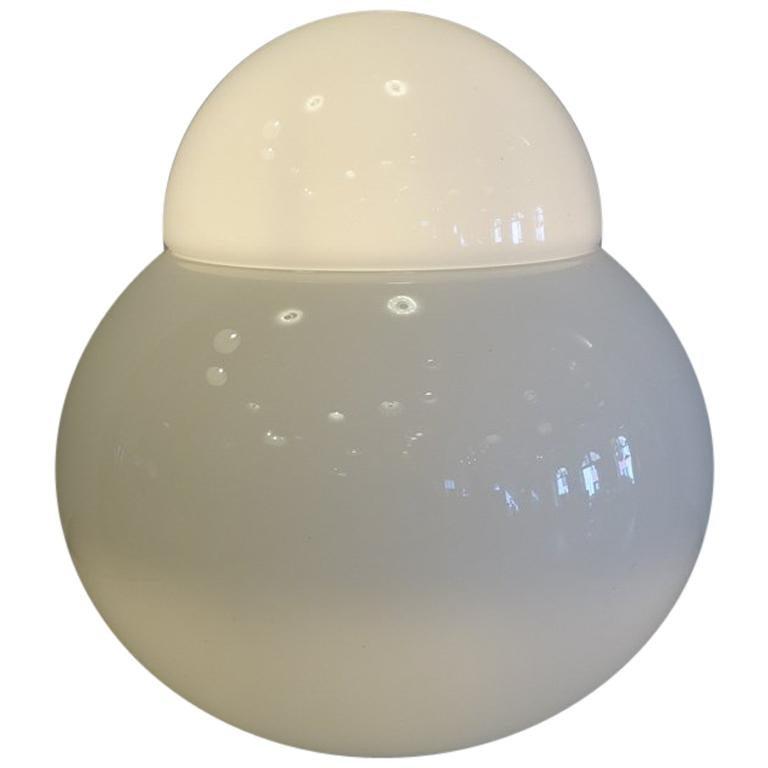 """Große """"Daruma"""" Glas Tischlampe von Sergio Asti für Fontana Arte, 1968 1"""