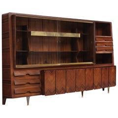 Large Dassi Milano Cabinet with Brass, 1950s