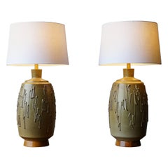 Large David Cressey Ceramic Table Lamps