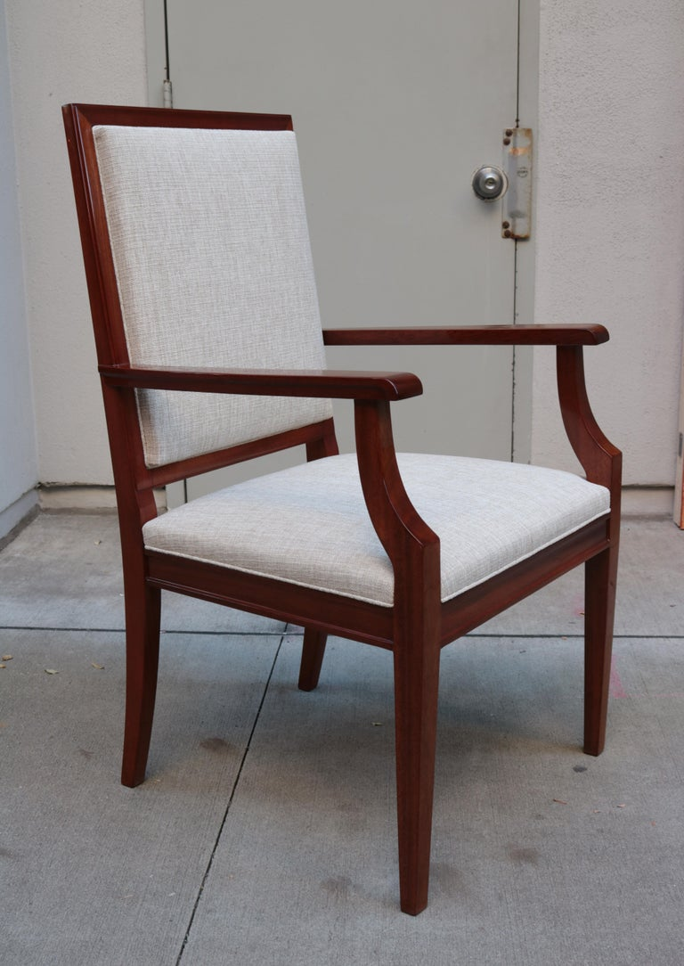 A De Coene Fères Art Deco desk chair.  Mahogany.