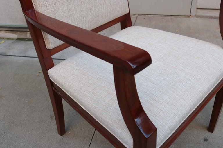 Upholstery Large De Coene Fères Art Deco Desk Chair For Sale