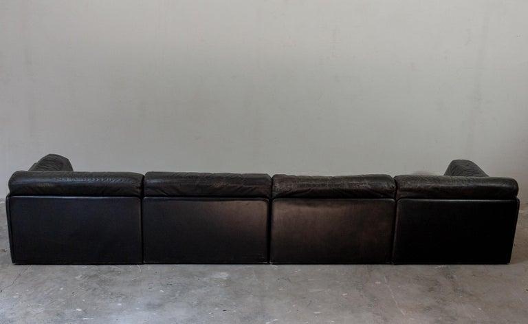 Leather Large De Sede Modular Sofa Model DS 79 For Sale