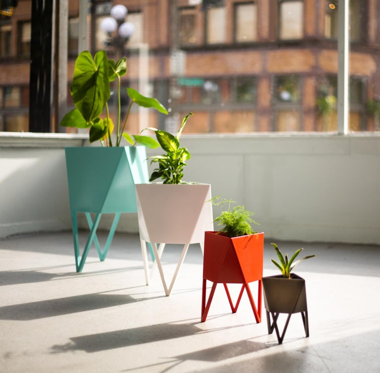 Contemporary Large Deca Planter in Mint by Force/Collide, 2020 For Sale