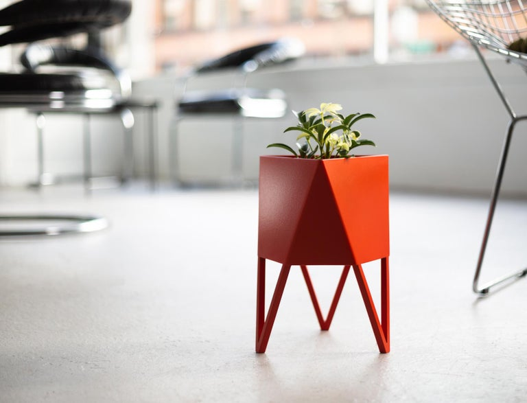Steel Large Deca Planter in Mint by Force/Collide, 2020 For Sale