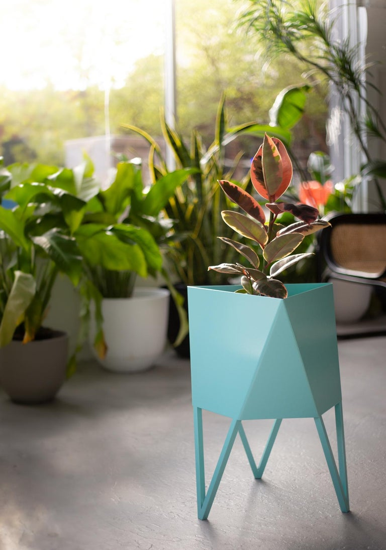 Large Deca Planter in Mint by Force/Collide, 2020 For Sale 2