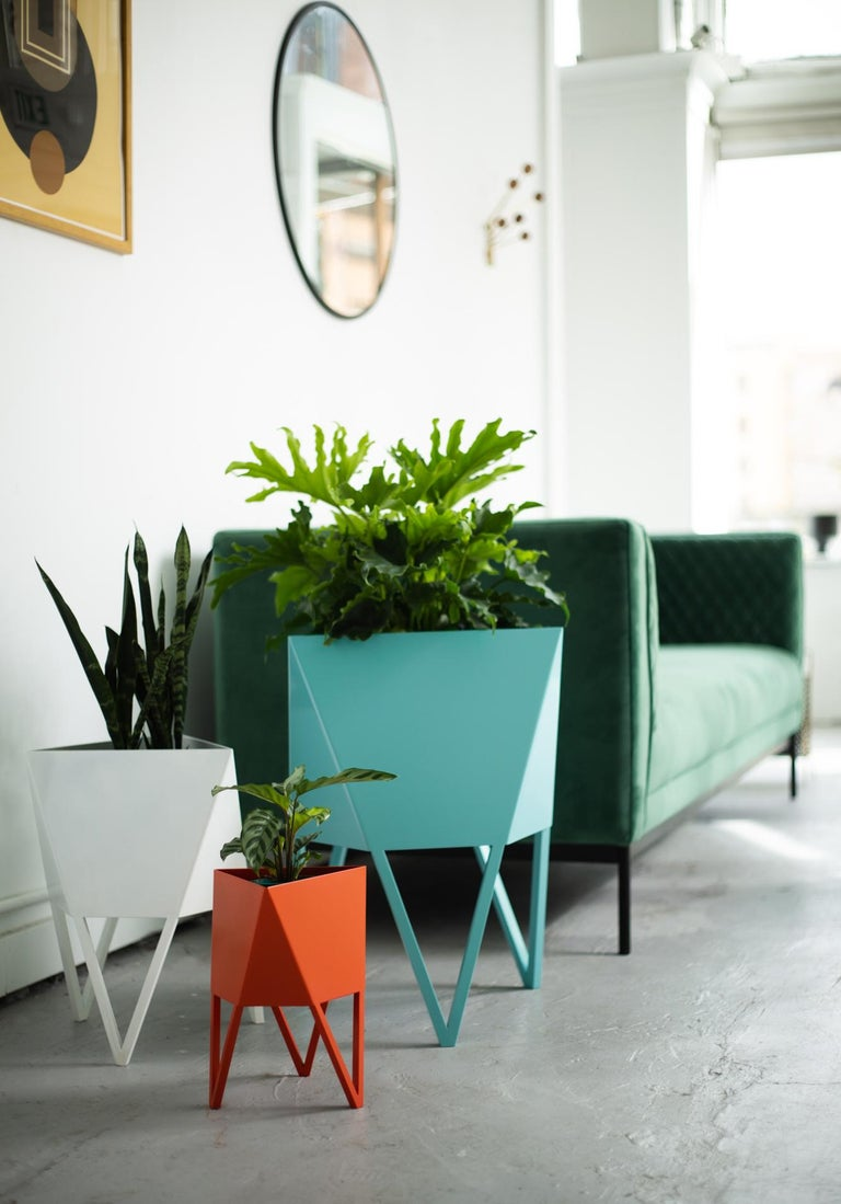 Welded Large Deca Planter in Mint by Force/Collide, 2020 For Sale