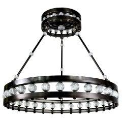 Large Deco Style Corona Chandelier