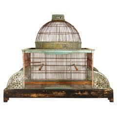 Large Decorative 19th Century Bird Cage