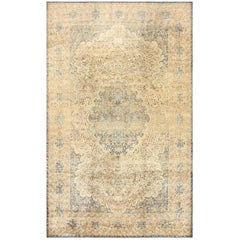 Large Decorative Antique Persian Kerman Rug. Size: 10 ft 6 in x 17 ft