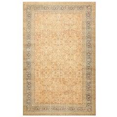 Large Decorative Antique Persian Lavar Kerman Rug. Size: 11 ft 6 in x 18 ft