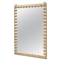 Large Decorative Brass Wall Mirror