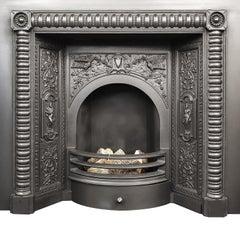 Large Decorative Cast Fireplace Insert
