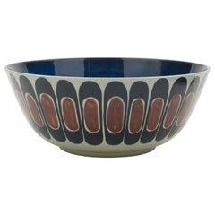 Large Decorative Ceramic Royal Copenhagen Fajance Bowl by Inge Lise Koefoed