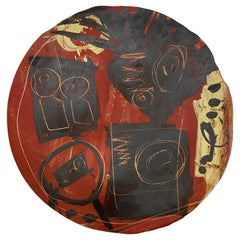 Large Decorative Dish by Fred Garcia