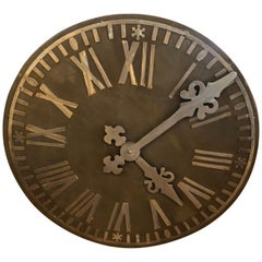 Large Decorative French Style Steel Wall Clock