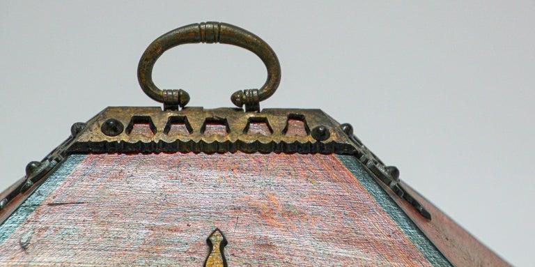 Large Decorative Jewelry Box with Brass, Kerala Nettur Petti For Sale 9