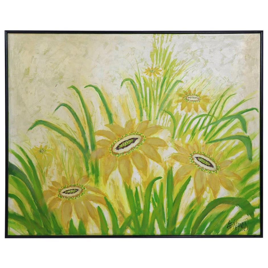Large Decorative Lee Reynolds Floral Painting