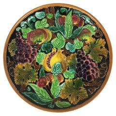 Large Decorative Plate by Ceramics of Monaco