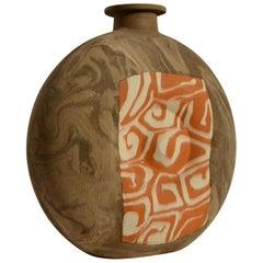 Large Decorative Studio Pottery Vases in Geometric Patterns