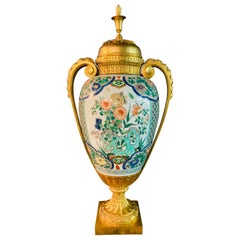 Large Decorative Vase Fire-Gilded Bronze from the 19th Century in the Louis XVI