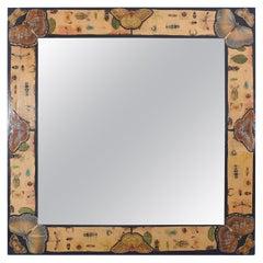 Large Découpage Square Mirror