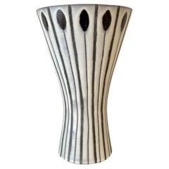 """Large """"Diabolo"""" Vase by Roger Capron, Vallauris, 1960's"""