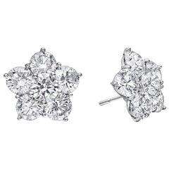 """Large Diamond """"Astra"""" Stud Earrings '4.82 Carat'"""