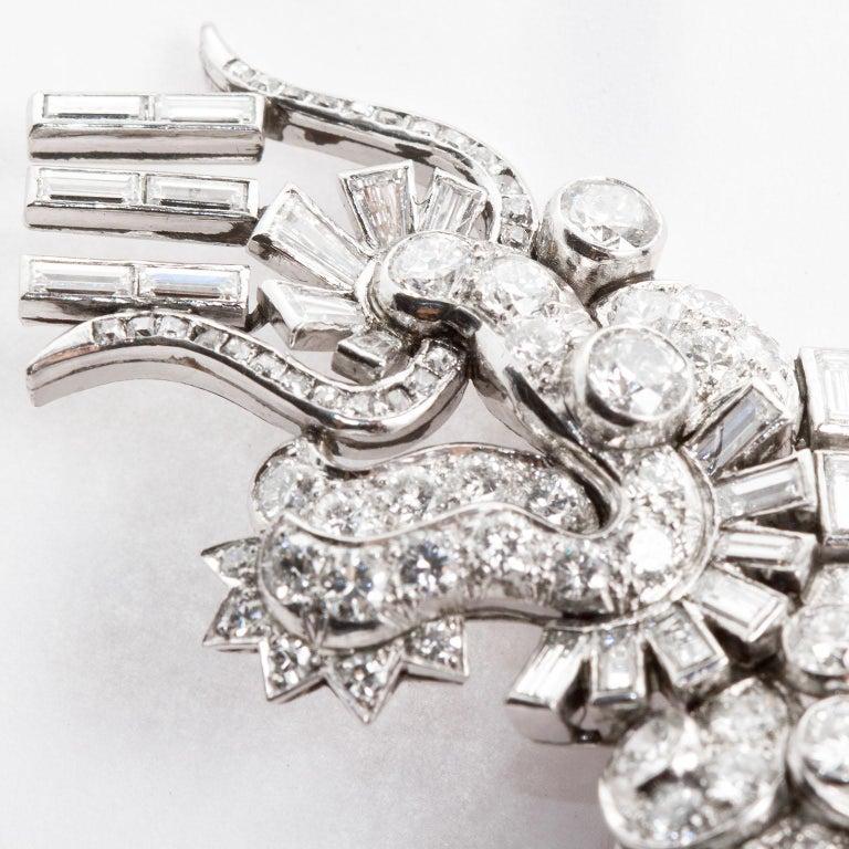Women's Large Diamond Dragon Brooch For Sale