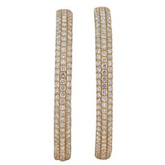 Large Diamond Gold Inside-Out Hoop Earrings