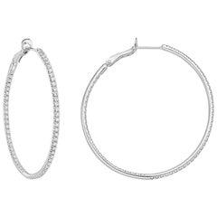 Large Diamond Hoop Earrings 2.60 Carat'