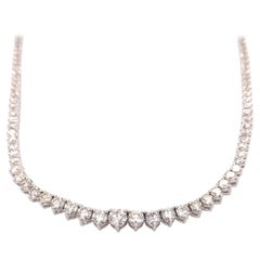 Large Diamond Riviera/Tennis Necklace