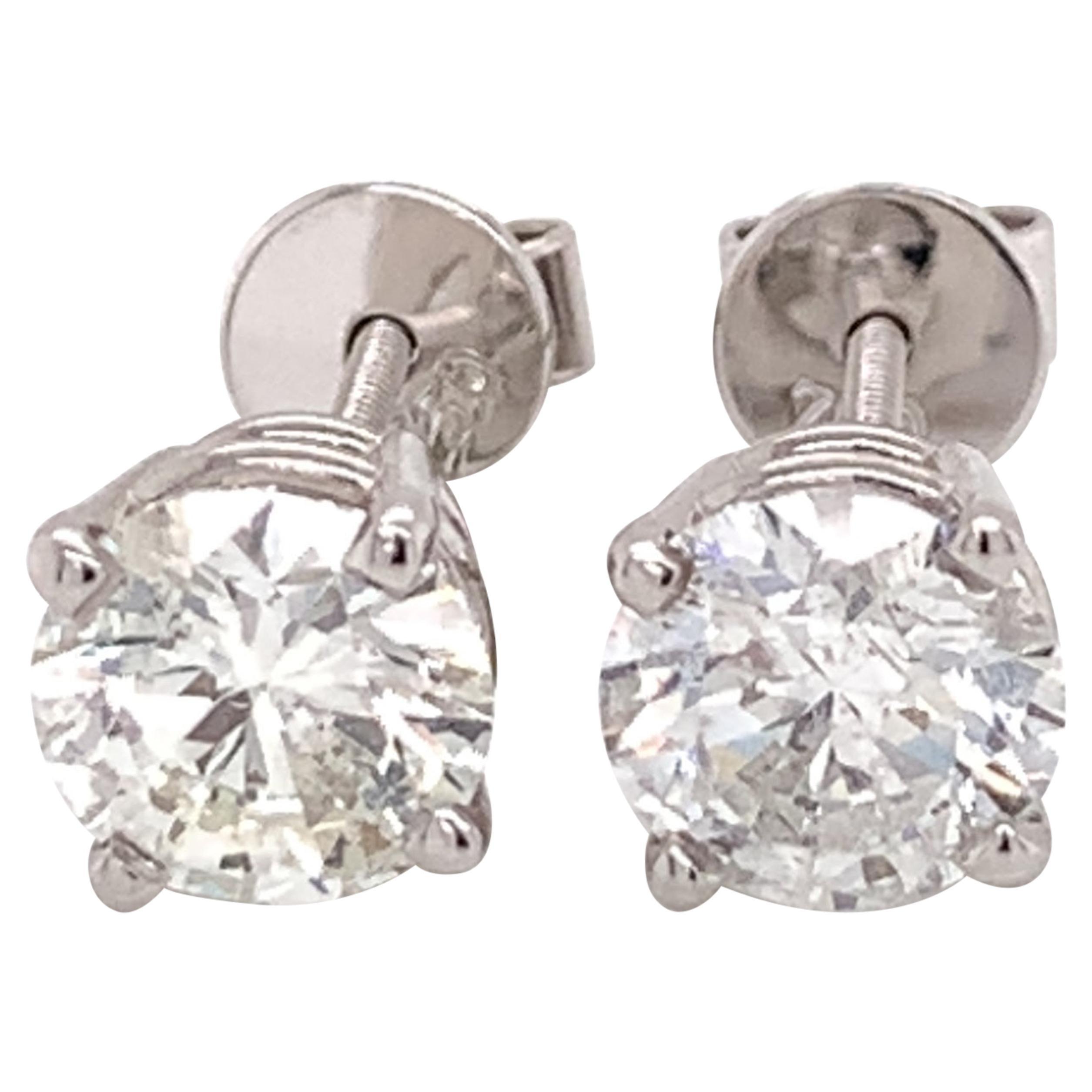 Large Diamond Stud Earrings