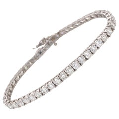 Large Diamond Tennis/Line Bracelet