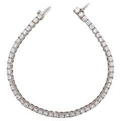 Large Diamond Tennis/Line Bracelet