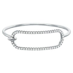 Large Diamond Tension Bracelet in 18 Karat White Gold