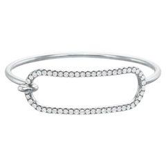 Large Diamond Tension Bracelet in 18 Karat White Gold