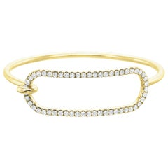 Large Diamond Tension Bracelet in 18 Karat Yellow Gold