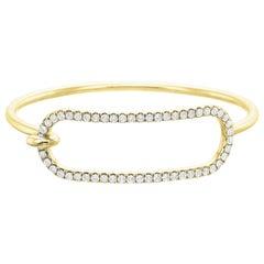 Large Diamond Tension Bracelet in 18 Karat Yellow Gold