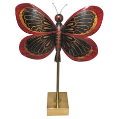 Large Dinanderie Butterfly Early 20th Century