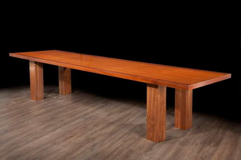 Mid Century Modern, Italian Large Desk, cons or entrance  table by Roberto Poggi In Good Condition For Sale In London, GB