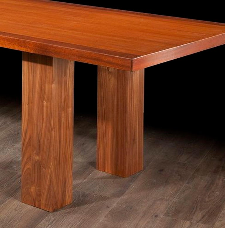 Wood Mid Century Modern, Italian Large Desk, cons or entrance  table by Roberto Poggi For Sale