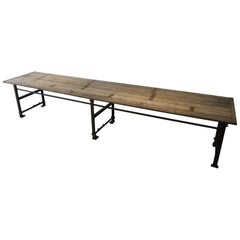 Large Dining Table Reclaimed Wood Industrial Base Handmade One of a Kind