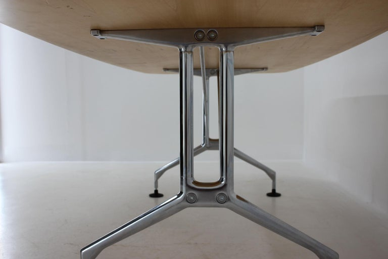 Large Dining Table Vitra Designed by Charles and Ray Eames, 1980s For Sale 7