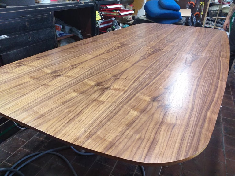 Veneer Large Dining Table Vitra Designed by Charles and Ray Eames, 1980s For Sale